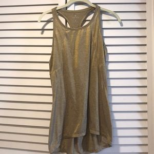Gold racerback tank from Athleta